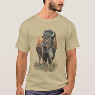 Camiseta Arte da natureza animal do búfalo do bisonte da