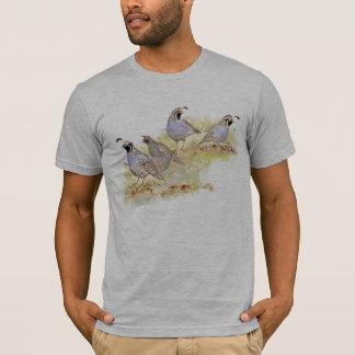 Camiseta Arte da natureza do pássaro de estado das codorniz