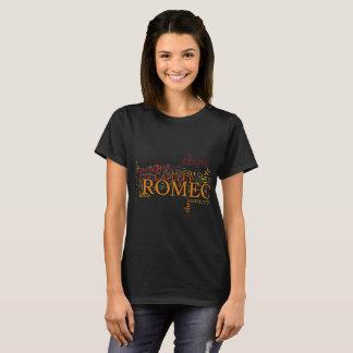 Camiseta Arte da palavra de Romeo e de Juliet