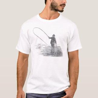 Camiseta Arte da pesca com mosca do vintage