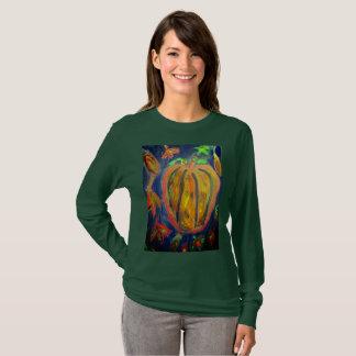 Camiseta Arte da queda da abóbora
