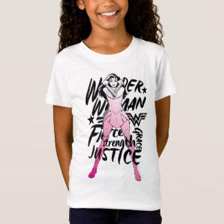 Camiseta Arte da tipografia da escova da mulher maravilha