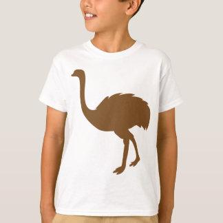 Camiseta Arte de África dos pássaros do pássaro do Struthio