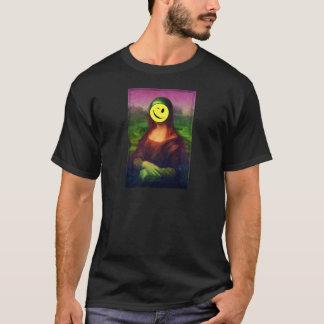 Camiseta Arte de Emoji do piscar os olhos do sorriso de