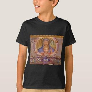 Camiseta arte de mary e de criança