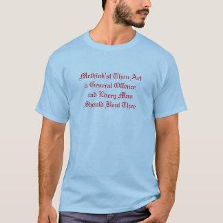 Camiseta Arte de mil de Methink'st uma ofensa geral