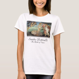 Camiseta Arte de renascimento, o nascimento de Venus por