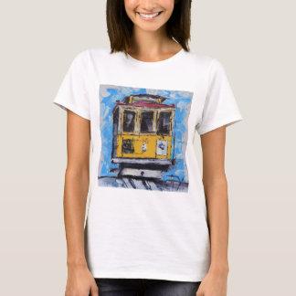 Camiseta Arte de San Francisco, pintura do teleférico,
