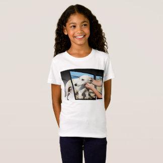 Camiseta Arte dimensional do cão branco de Whippet,