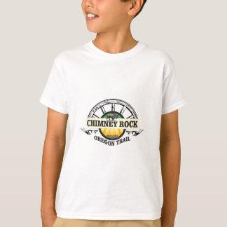 Camiseta arte do amarelo da rocha da chaminé