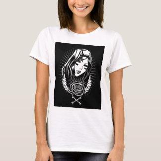 Camiseta Arte do Chicano de Mary da mãe