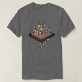 Camiseta Arte do conceito da arquitetura das reflexões 01