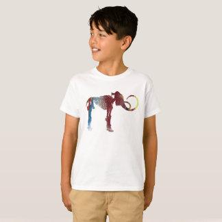 Camiseta Arte do esqueleto do Mammoth Woolly