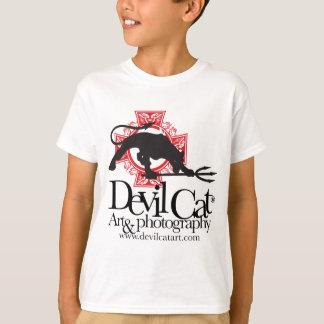 Camiseta Arte do gato do diabo