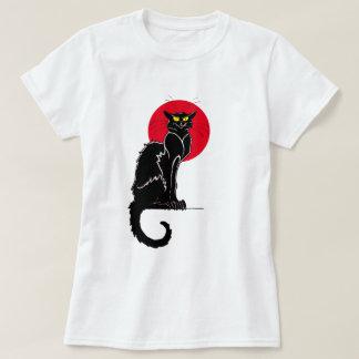 Camiseta Arte do gato do vintage de Le Conversa Noir