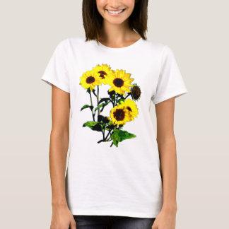 Camiseta arte do girassol