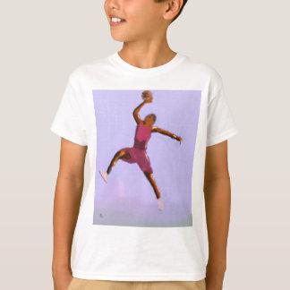 Camiseta Arte do jogo de basquetebol