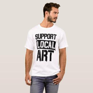 Camiseta Arte do local do apoio
