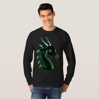 Camiseta Arte do original da cabeça do dragão da fantasia