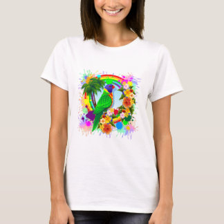 Camiseta Arte do papagaio de Lorikeet do arco-íris