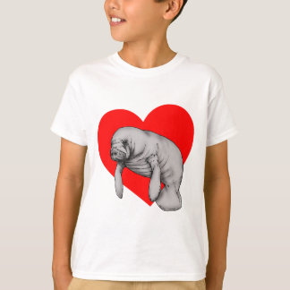 Camiseta arte do peixe-boi