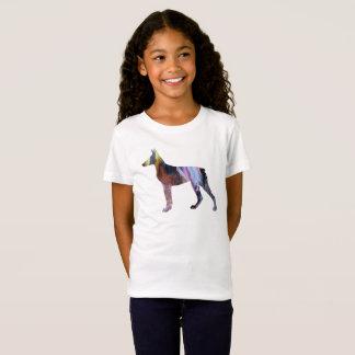 Camiseta Arte do Pinscher do Doberman