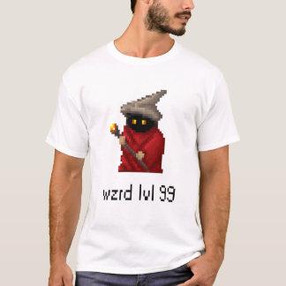 Camiseta Arte do pixel do feiticeiro do nível 99