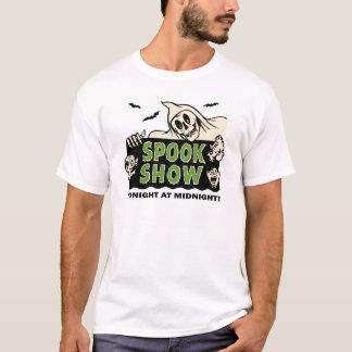 Camiseta arte do poster da mostra do susto do vintage dos
