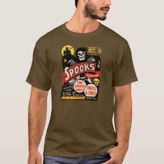Camiseta arte do poster da mostra do susto dos anos 50