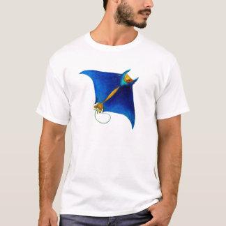 Camiseta arte do raio de manta