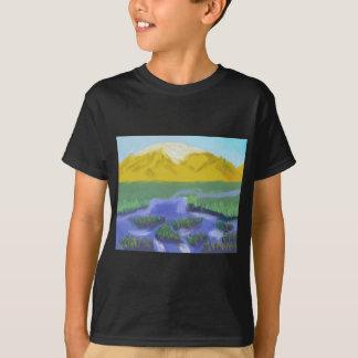 Camiseta Arte do rio da montanha