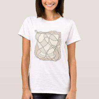 Camiseta Arte do Scribble do copo de café