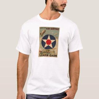 Camiseta Arte do vintage do avião do dirigível do dirigível