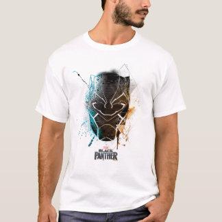 Camiseta Arte dupla preta da rua das panteras da pantera |