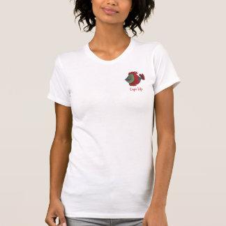 Camiseta Arte engraçada coral dos peixes da vida do cabo de