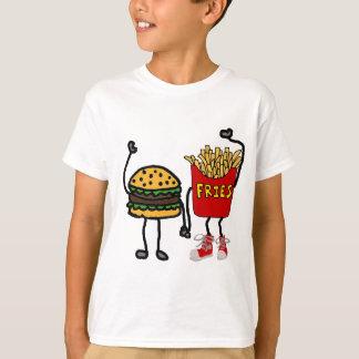Camiseta Arte engraçada do Hamburger e dos desenhos