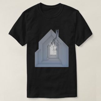 Camiseta Arte escura do conceito da arquitetura do fumo 01