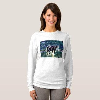 Camiseta Arte Frisky de sentimento do cavalo