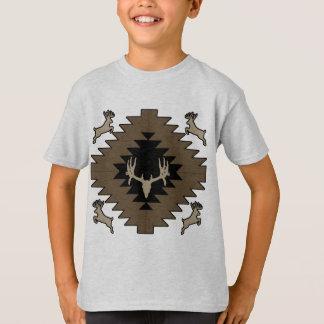 Camiseta Arte indiana americana dos cervos do fanfarrão