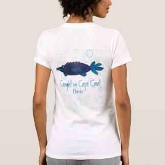 Camiseta Arte lunática coral dos peixes de Florida do cabo