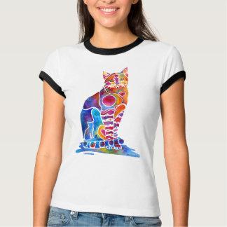 Camiseta Arte lunática do gato