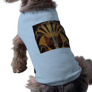 Camiseta arte Nouveau, art deco, vintage, multi cores de