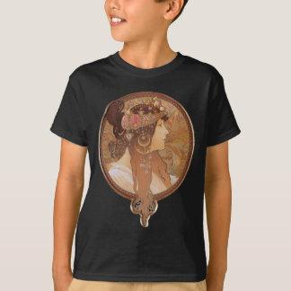 Camiseta Arte Nouveau - cabeça do bizantino de Alphonse