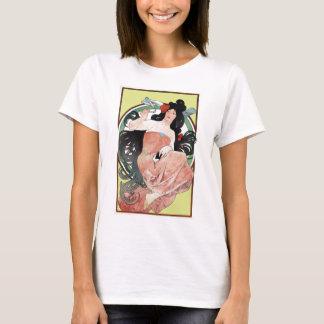 Camiseta Arte Nouveau do Victorian de Alphonse Mucha