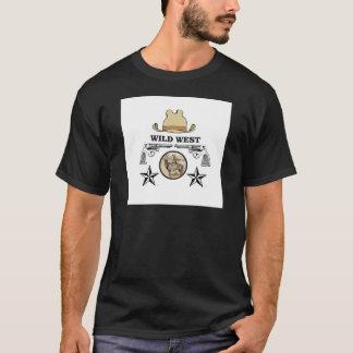 Camiseta arte ocidental selvagem do vaqueiro
