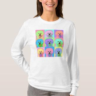 Camiseta Arte Op - Bichon Frise - Cody