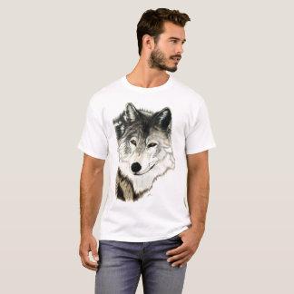 Camiseta Arte original do lobo