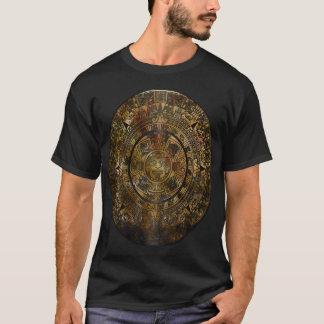 Camiseta Arte popular asteca do calendário