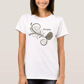 Camiseta Arte popular do pássaro de Swirly