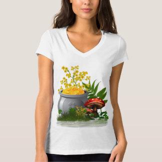 Camiseta Arte popular lunática da fuga do trevo